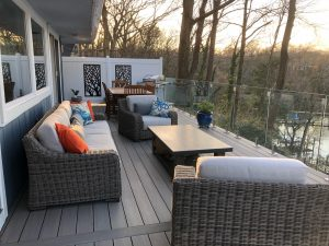 new Azek balcony deck install